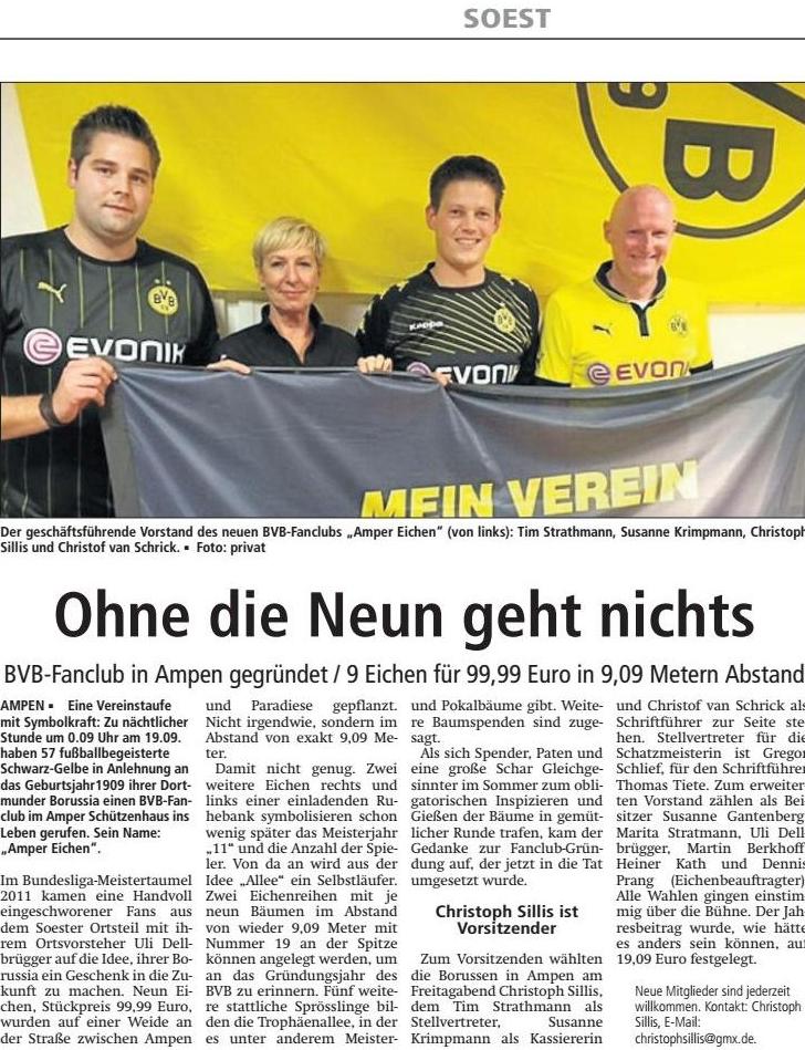 Gründung BVB Fanclub Amper Eichen